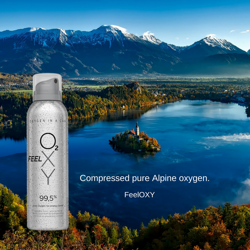 Compressed pure Alpine oxygen.