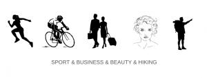 Sport & business & beauty & hiking